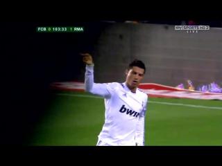 Cristiano Ronaldo vs Barcelona (Final Copa del Rey 2011)