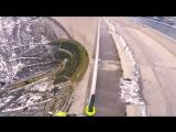 Проезд на велосипеде над пропастью 200 метров
