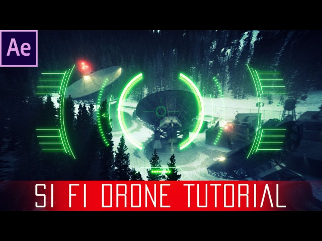 After Effects Sci fi Drone Lens Tutorial Free HUD Overlay