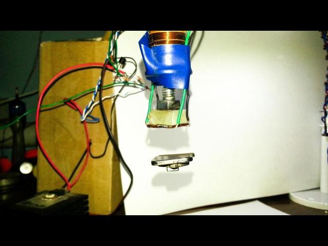 Устройство для левитации магнита, простое, самодельное, на двух транзисторах / Самодельный левитрон