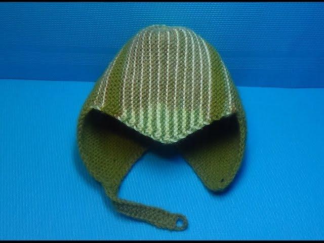 Вязание спицами детская спортивная шапочка 145