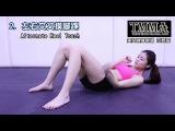 Красивая девушка азиатка в спортзале .