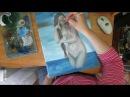 Фигура девушки в стиле НЮ.Живопись маслом,Видео урок.