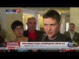 Я не могу принимать решения вслепую, - Савченко о голосовании за изменения в Конституцию