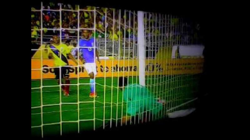Brasil vs Ecuador (Gol no marcado y que osote de alisson portero de Brasil)