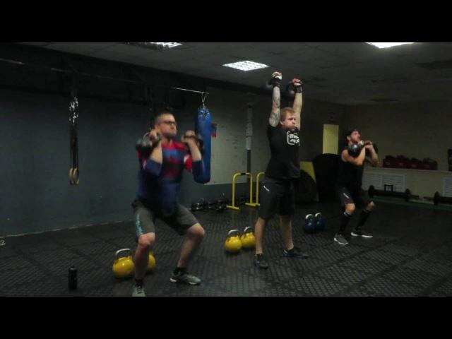 Гиря Ка4. Гиревой комплекс Змей Горыныч. Kettlebell CrossFit Wod