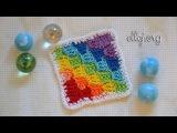 Вязание крючком от угла Узор и мотив Corner to Corner Crochet How to crochet C2C