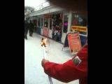 Эстафета олимпийского огня в Ростове в пролетарском рынке (Sochi 2014 Olympic flame in Rostov)