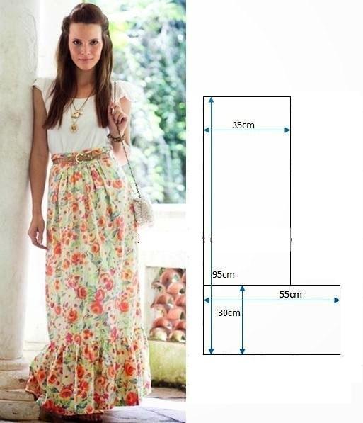 Шьем из длинной юбки платье