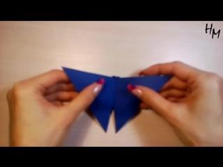 Как сделать оригами БАБОЧКУ из бумаги / How to make an origami butterfly