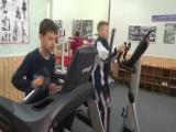 Артамонов в начале программы (интервальный бег)