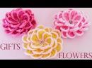 Como tejer fácil y rápido flores en una sola tira Make creates beautiful flowers cute gifts