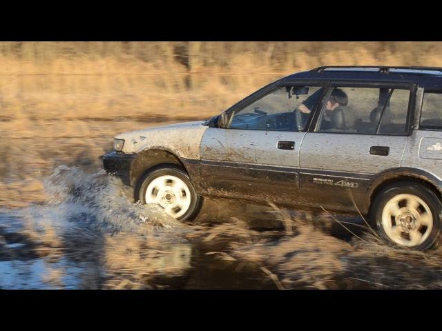 Toyota Sprinter Carib 4wd fulltime 3sfe \ Эртильский район, река Битюг 11 марта 2017 года