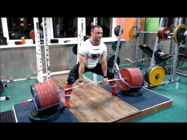 Deadlift 350 kg*2 and 360 kg*2 height 6 cm @ b/w 85.5 kg