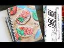 Как нарисовать скетч бутерброд! Dari_Art