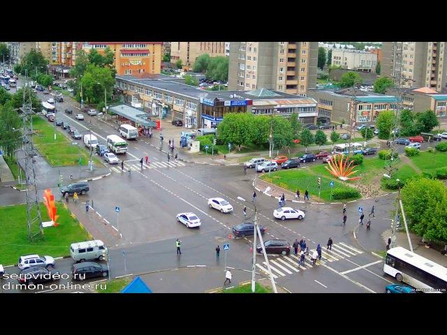 ДТП в Серпухове. Не пропустил на перекрёстке... 07 июня 2016г.