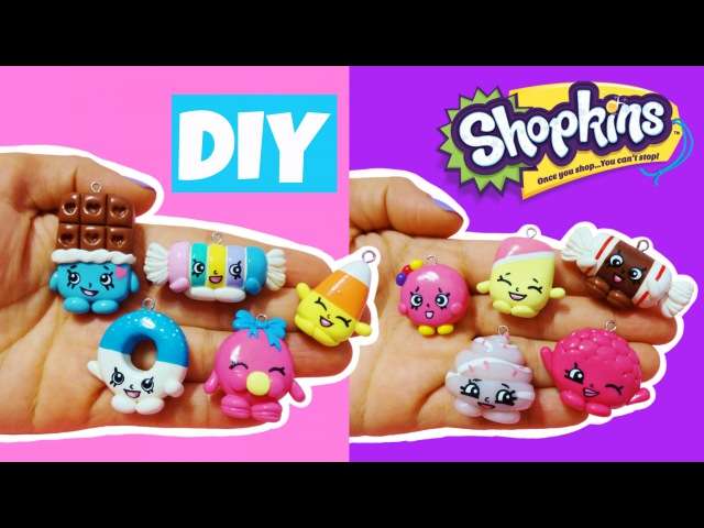 DIY Shopkins! How to Make Shopkins Candy Clay Charms