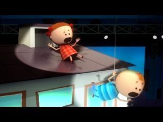 Аркадий Паровозов спешит на помощь - Салют на крыше - серия 74
