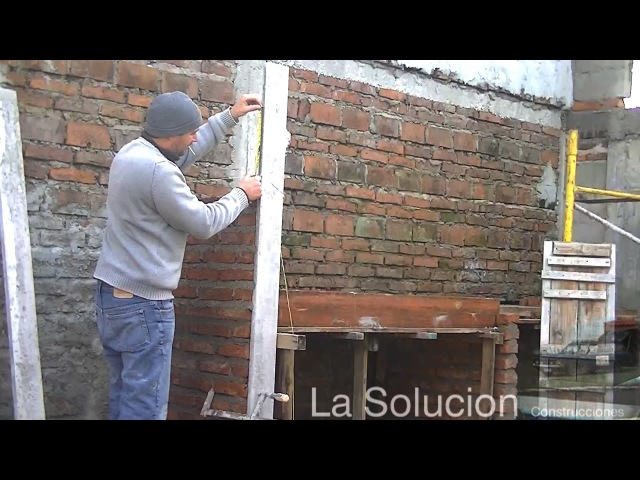 Construccion de asador de ladrillos