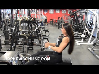 IFBB Bikini Pro Angelica Teixeira. Тренировка спины