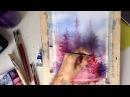 Рисуем пейзаж акварелью по мокрому