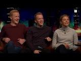Йоханнес Тиннес Бё, Тарьей Бё и Ингрид Тандервольд на норвежском шоу Senkveld 07102016