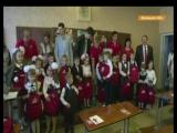 Телеканал ICTV осветил праздник День знаний, на котором хоккеисты ХК Донбасс поздравляли школьников
