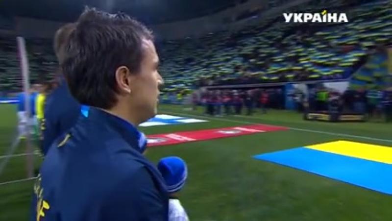 Гімн України у виконанні гравців футбольної збірної та усіх вболівальників в Одесі! Це неймовірно! P.S. Одне падло сРакицький