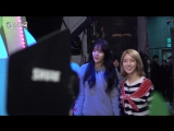 170108 KBS Hello behind video - AOA Choa & Hyejeong