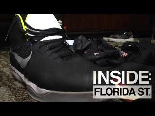 Inside Florida State | FSU Big Man Michael Ojo Shows Off Gigantic Shoes