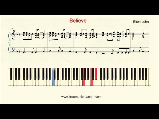 How To Play Piano Elton John Believe Piano Tutorial by Ramin Yousefi