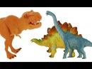 Про динозавров. Динозавры и ягоды. Тиранозавр. Мультик видео для детей