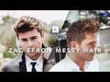 Zac Efron Messy Hair  Medium Length Mens Hairstyle
