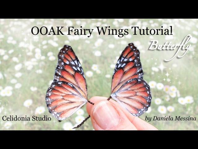 OOAK Fairy Wings Tutorial: Butterfly - Ali per Fatine: Farfalla
