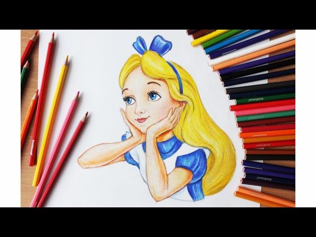 Уроки рисования. Как нарисовать Алису (Алиса в стране чудес) How to draw alice in wonderland