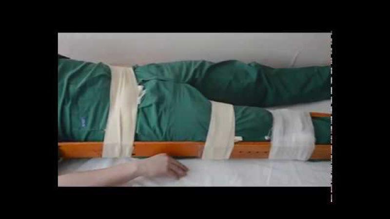 Транспортная иммобилизация при травмах позвоночника, костей таза, верхних и ниж...