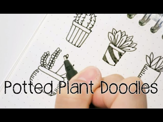 Doodle with Me : Potted Plant Doodles V.2