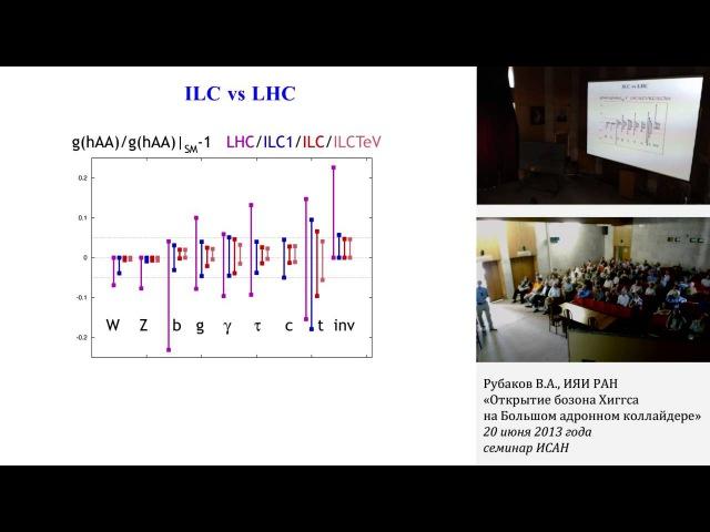 В. А. Рубаков, «Открытие бозона Хиггса на Большом адронном коллайдере», семинар ИСАН d. f. he,frjd, «jnrhsnbt ,jpjyf [buucf yf ,