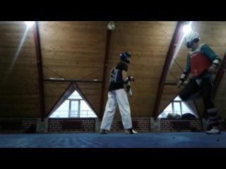 Taekwondo sparring training ( Taraz )