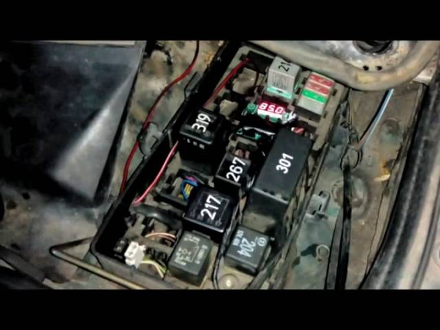 Audi 100 2.8 Quattro - Установка электронного термоконтроля включения вентиляторов