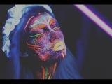 UV Blacklight Splatter Makeup Tutorial  Naomi