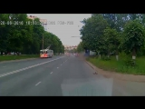 Водитель Газели угодил в больницу после неудачного обгона в Иванове. (20.06.2016)