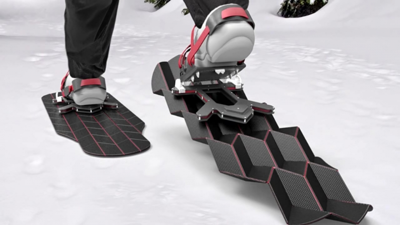 New Inventions 2017 Eric Brunts Flux Snowshoes Transform With Each Step