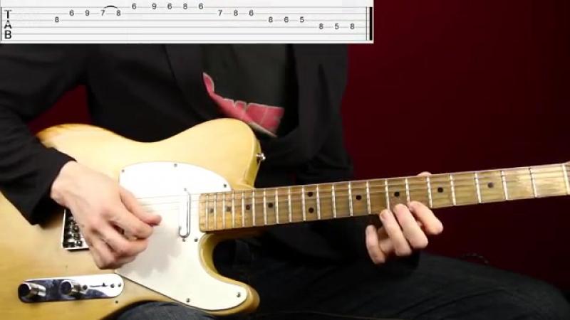 Как играть простое, но эффектное Джаз Блюз соло - Уроки игры на гитаре Первый Лад.mp4