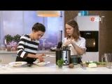 Палтус со свекольным пюре и попкорном. Катя Скворцова и Татьяна Рыбакова. Инь Янь!)