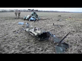 Под Краматорском упал военный вертолёт МИ-2 26 03 2017