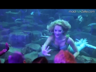 Эта девушка работает русалкой в парижском аквариуме.