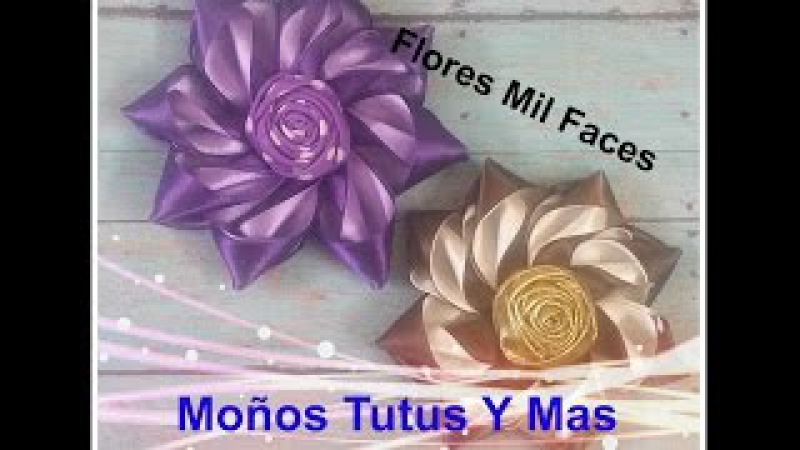 FLOR MIL FACE Paso a Paso SATIN FLOWER HAIR BOW How To DIY Tutorial PAP Video 38