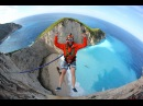 Zakynthos rope jumps raw footage Oct 2015