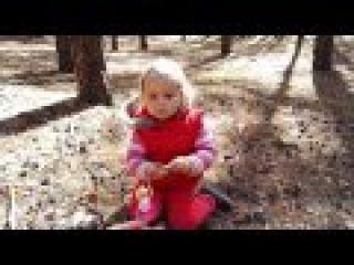 Мини квест в лесу/Арина ищет киндер джой/Kinder Joy